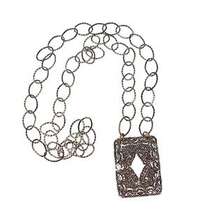 Jewelry - crystal embellished chain necklace